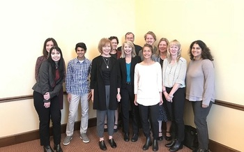 The Climate Generation delegation poses with Minnesota Lt. Gov. Tina Smith before departing for the U.N. Climate Change conference in Bonn. (Climate Generation)