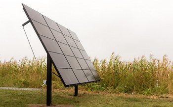 Opponents of the Keystone XL pipeline constructed solar panels along the project's route. (Bold Nebraska)