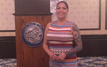 Artist and activist Fawn Douglas was named Nevada's Indian American Leader of the Year on Saturday at the Governor's Mansion. (Fawn Douglas)