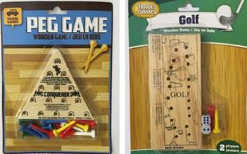 Some peg games on the market have small parts that pose choking hazards for young children. (U.S. PIRG Education Fund)