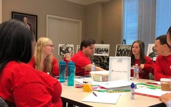 The Lynchburg College Caring for the Caregivers hackathon team beat groups from six other universities at the third annual event. (Lynchburg College)
