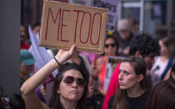 An associate law professor at the University of Oregon says the public shaming of sexual harassers could improve the workplace for victims. (David McNew/Getty Images)