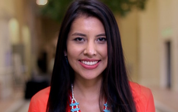 TaNeel Filesteel is an Indigenous Generation ambassador who helped with the State of Native Youth Report and deputy prosecutor at the Fort Belknap reservation. (Jason Packineau/Harvard University Native American Program)