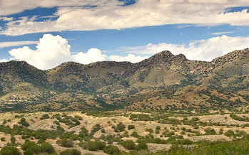 The site of the proposed Rosemont Mine in the Santa Rita Mountains is part of the watershed that replenishes the aquifer that serves Tucson. (Save the Scenic Santa Ritas)