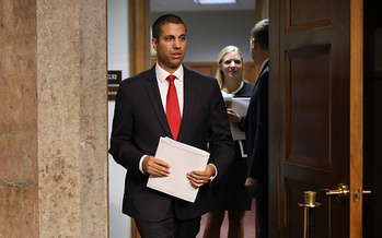 FCC Chairman Ajit Pai has proposed classifying internet providers as information services rather than telecommunication services. (Chip Somodevilla/Getty Images)