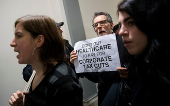 Consumer advocates warn that tax breaks that primarily benefit corporations and the top one percent of earners could lead to cuts to Medicare and Medicaid. (Getty Images)