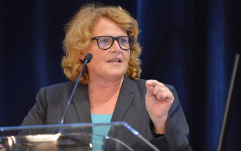 Introducing Savanna's Act, Sen. Heidi Heitkamp, D-North Dakota, is raising awareness about violence against Native American women. (Jay Mallin/Housing Assistance Council)