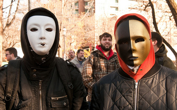 Opponents of an Ohio bill to make wearing a mask at protests illegal say it's a tool against left-leaning activist groups. (michael_swan/Flickr)