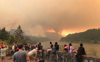 The Eagle Creek Fire burned nearly 50,000 acres in the Columbia Gorge this summer. (U.S. Forest Service/Wikimedia Commons)