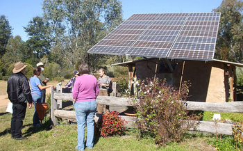 Some Iowa farms and businesses are investing in solar installations as a way to cut costs. (Vivian Evans/Flickr)