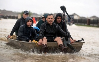 Hurricane Harvey dumped an unprecedented 50 inches of rain on parts of southeast Texas, a phenomenon many scientists attribute to climate change. (ScottOlson/GettyImages)