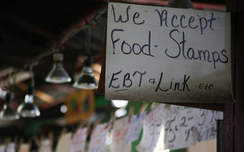SNAP and other food assistance encompass 70 percent of the USDA budget.(Paul Sabelman/Flickr)