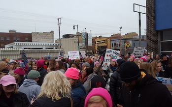More than 3,000 people showed up for last year's Women's March n Fargo. (Courtesy of Nicole Mattson)