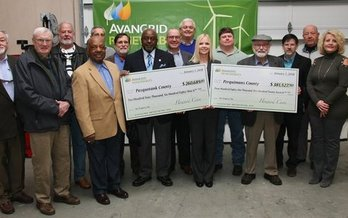 Two eastern North Carolina counties received more than $640,000 in tax payments from the Amazon Wind Farm. (Avangrid Renewables)