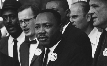 Activists say Ohioans can celebrate the life of Martin Luther King Jr. by acting to end social inequality. (U.S. National Archives and Records)
