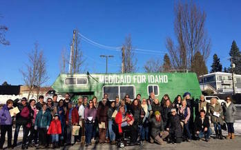 The Medicaid expansion initiative needs roughly 48,000 signatures coming from 18 districts to qualify for November's ballot. (Luke Mayville/Reclaim Idaho)