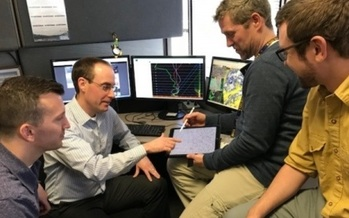 The air quality index forecast team at the MPCA analyzes data from monitors at 17 locations. (Roberta Heine/Minnesota Association of Professional Employees)
