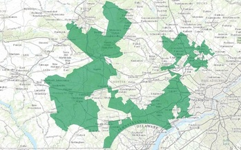 Pennsylvania's 2011 congressional district map was considered one of the most gerrymandered in the country. (U.S. Department of the Interior)