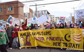 Hate crimes against Muslims increased 54 percent between 2015 and 2016, according to FBI statistics. (Samia Ann El Moslimany/CAIR-Washington State)