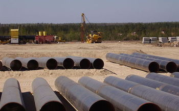 Groups are seeking an injunction to halt construction where drilling-fluid spill protocols have been weakened. (Ohikulkija [CC BY-SA 3.0]/Wikimedia Commons)