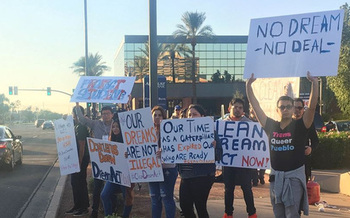 Groups supporting DACA recipients are rallying in Phoenix at 6 P.M. today.