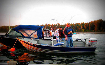 An Oregon fishing guide says fishers worry about the effects of ethanol on their outboard motors. (Michelle B./Flickr)