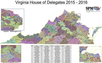 Every decade, with the results of the U.S. Census in hand, Virginia's legislative districts are drawn. (OneVirginia2021)