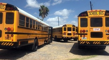 The state of Texas is warning school districts that busing students to polling places could constitute