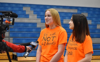 Last week, students in Idaho and across the country walked out of class to protest gun violence. (CDA Schools)