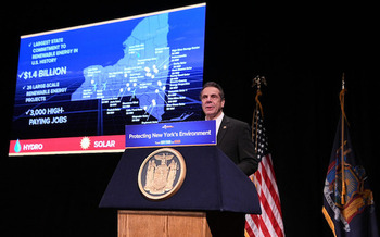 Gov. Andrew Cuomo announces contracts for more than 3 million megawatt-hours of renewable energy. (governorandrewcuomo/Flickr)