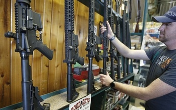 An initiative to ban the sale of semi-automatic weapons in Oregon needs 88,000 signatures by July 6 to qualify for the November ballot. (George Frey/Getty Images)