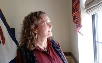 Julie Schleier of Parkersburg says Obamacare may have saved her life. (Dan Heyman)
