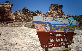 Conservationists are protesting the Bureau of Land Management's determination that oil and gas development in an area adjacent to Canyons of the Ancients National Monument would have
