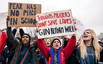 In the wake of recent deadly shootings, including one in Marshall County, several March for Our Lives rallies will be held in Kentucky this weekend. (Lorie Shaull/Flickr)