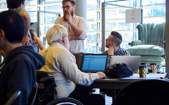 Last year, a Community Challenge grant funded a Seattle hackathon to develop an app aimed at making the city more livable for aging residents. (Seattle.gov)