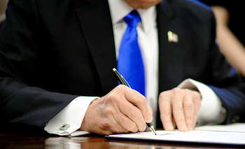 President Donald Trump's executive order in May 2017 instructed Attorney General Jeff Sessions to �issue guidance interpreting religious liberty protections in Federal law.� (Getty Images)