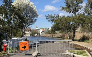 Communities such as Manteo see flooding even during less significant storm events, such as last month's Nor'easter. (The Nature Conservancy)