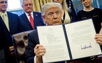 An executive order signed by President Donald Trump in May 2017 instructed Attorney General Jeff Sessions to �issue guidance interpreting religious liberty protections in Federal law.� (Getty Images)