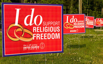 An expert says while freedom of religion was meant to prevent government intrusion, those liberties have limits, especially when they infringe on the rights of others. (unitedchurchofchrist/Flickr)