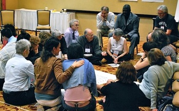 Organizers say healthy conversation, where listening and learning take precedence over arguing, is possible. (NCDD.org)