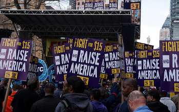 58 million American workers earn less than $15 an hour. (The All-Nite Images/Flickr)