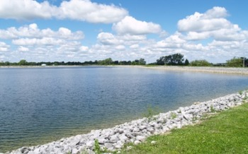 The Village of McComb used grant money from the AARP Community Challenge to install benches on walking paths around a reservoir. (Village of McComb)