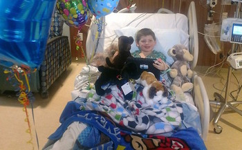 Five-year-old Cruz Krause survived a rare and deadly form of stroke due to a quick response from the medical system. (Callie Krause)