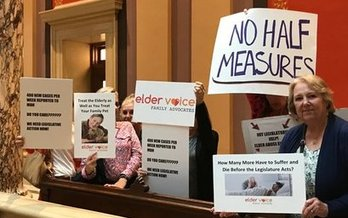 Supporters of licensing for assisted-living facilities rallied this week in the Minnesota State Capitol. But are lawmakers listening? (AARP Minnesota)