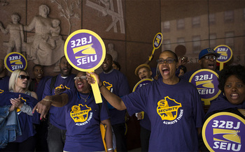 Security workers say lowering standards for contractors would threaten workers' gains and reduce safety. (SEIU 32BJ)