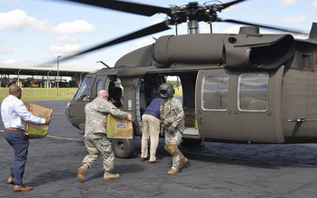 The North Carolina Army National Guard delivered food and supplies to communities in the aftermath of Hurricane Matthew, and many of those communities are still trying to recover. (NC National Guard/flickr)