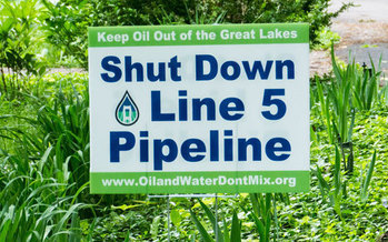 The Enbridge Line 5 pipeline is 65 years old, and considered too risky by environmental groups to continue to transport oil. (Oil and Water Don't Mix coalition)