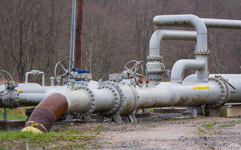 Pipes like this protrude from the ground where fracking occurs. (Mark Dixon/flickr)