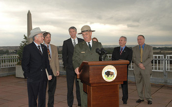 After more than 40 years of work for the National Park Service, Yellowstone Superintendent Dan Wenk will be out of a job in August. (Tami A. Heilemann/Dept. of the Interior)
