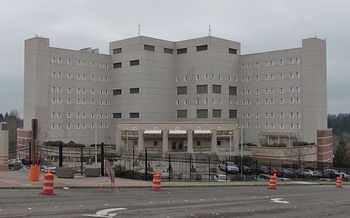 The U.S. government has moved more than 1,400 detainees at the border to federal prisons, including the Federal Detention Center in SeaTac. (SoundersBruce/Wikimedia Commons)